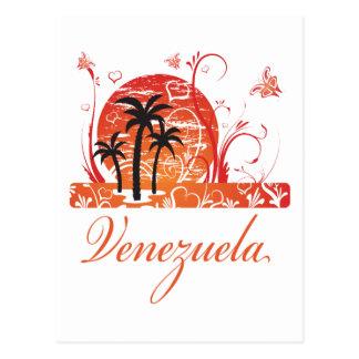 Venezuela Summer Palm Trees Postcard