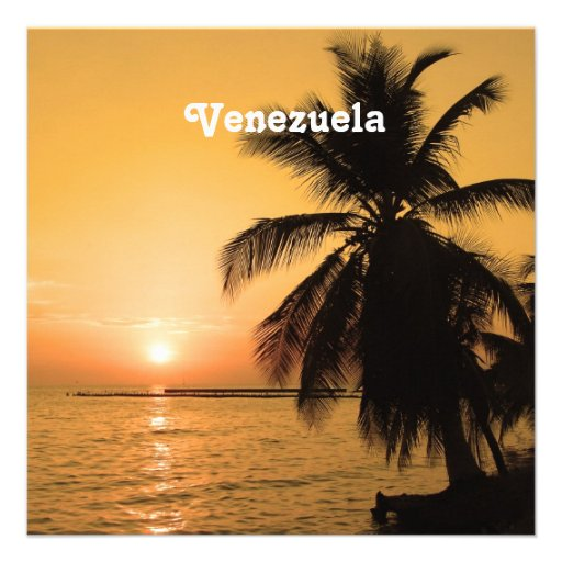 Venezuela Sunset Invitations