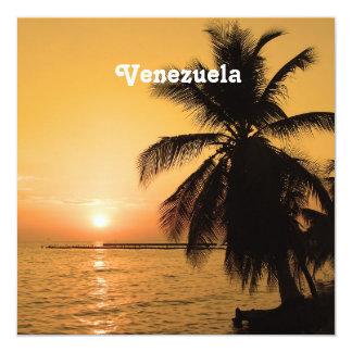 Venezuela Sunset 13 Cm X 13 Cm Square Invitation Card