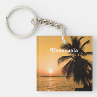 Venezuela Sunset Single-Sided Square Acrylic Keychain