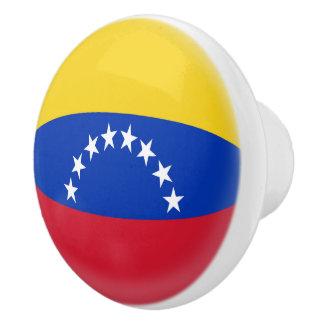 Venezuela Venezuelan Flag Ceramic Knob