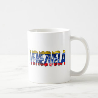 Venezuela Word With Flag Texture Coffee Mug