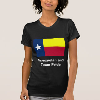 Venezuelan and Texan Pride Women's Black Shirt