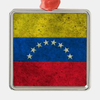 Venezuelan Flag Aged Steel Effect Ornament