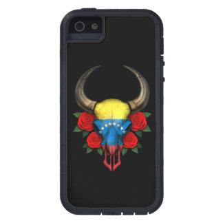 Venezuelan Flag Bull Skull with Red Roses iPhone 5 Covers