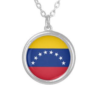Venezuelan Flag - Flag of Venezuela - Bandera Silver Plated Necklace
