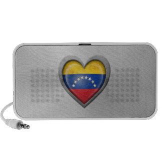 Venezuelan Heart Flag Stainless Steel Effect PC Speakers