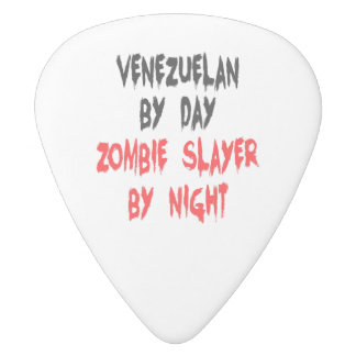 Venezuelan Zombie Slayer White Delrin Guitar Pick