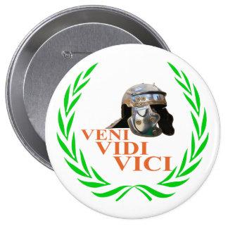 Veni Vidi Vici 10 Cm Round Badge