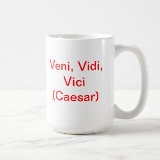 Veni, Vidi, Vici (Caesar) Basic White Mug