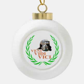 Veni Vidi Vici Ceramic Ball Decoration