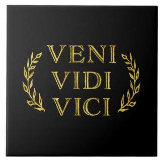 Veni Vidi Vici Funny Game Winner Ceramic Tile