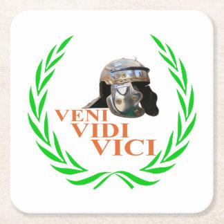 Veni Vidi Vici Square Paper Coaster