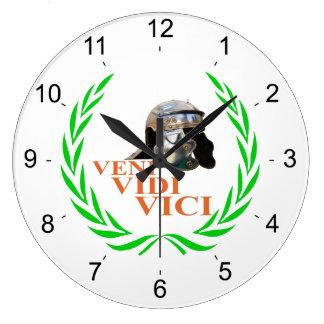 Veni Vidi Vici Wall Clocks