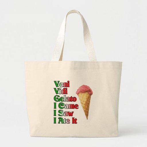 Veni Vini Gelato (I came I saw I ate it) Bags