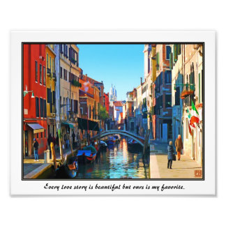 Venice Alley with Love Quote Photo Art