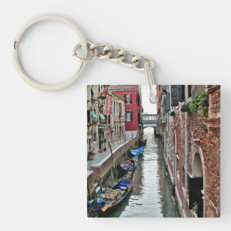 Venice Alleyway Single-Sided Square Acrylic Key Ring