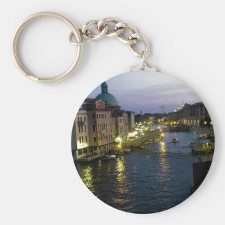 Venice at night keychain