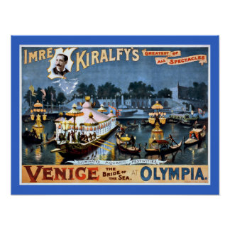 Venice at Olympia Vintage Travel Print