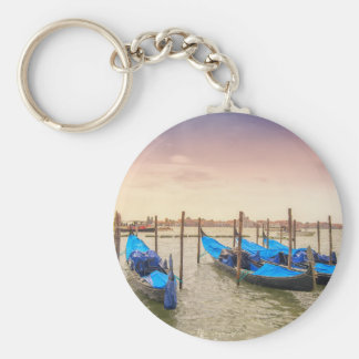 Venice Basic Round Button Key Ring