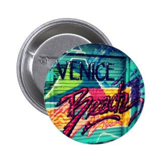 VENICE BEACH 6 CM ROUND BADGE