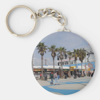 Venice Beach, California Basic Round Button Key Ring