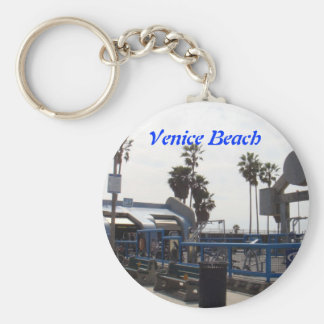 Venice Beach, California Basic Round Button Key Ring