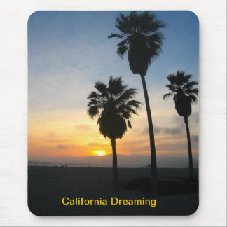 Venice Beach California Sunset Mouse Pads