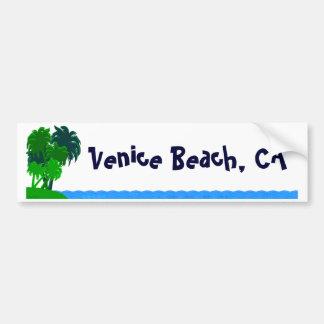Venice Beach Custom Palm Tree Bumper Sticker