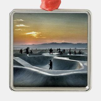 Venice Beach Skateboard Park Metal Ornament