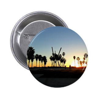 Venice Beach Sunset 6 Cm Round Badge