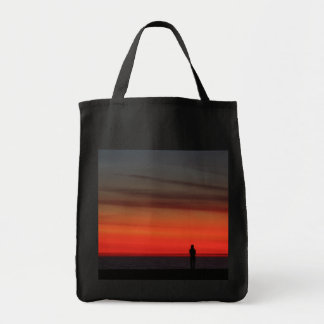 Venice Beach Sunset Grocery Tote Bag