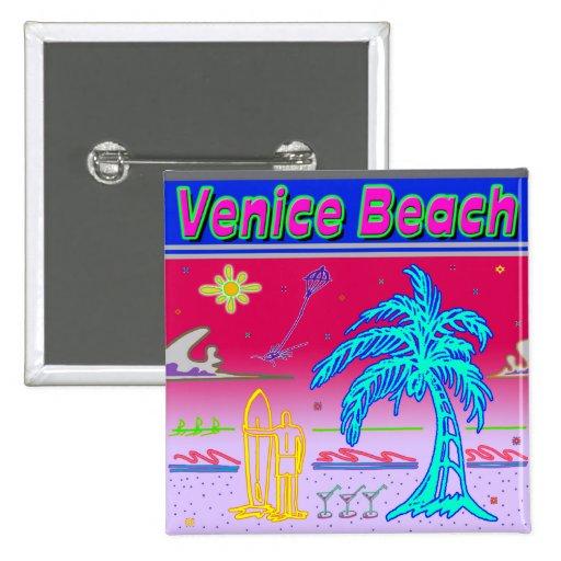 """""""Venice Beach"""" Surfer Button"""