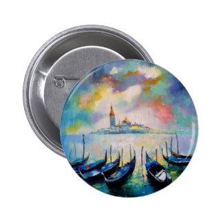 Venice before rain 6 cm round badge