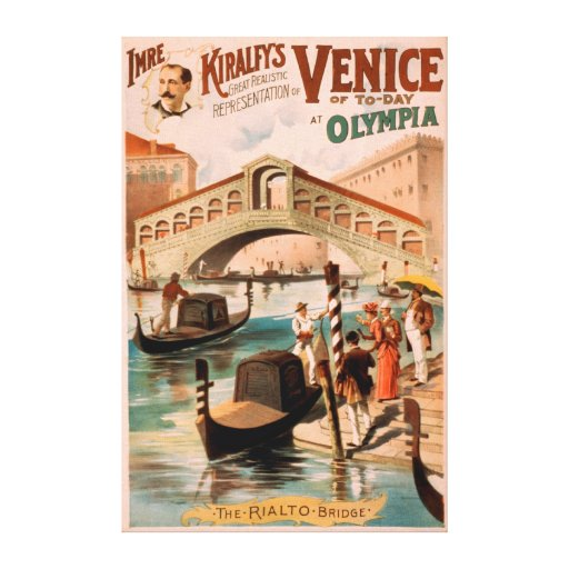 Venice, Bride of the Sea at Olympia Gondolas 2 Stretched Canvas Print