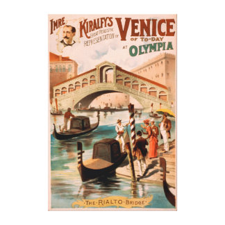 Venice, Bride of the Sea at Olympia Gondolas 2 Stretched Canvas Prints