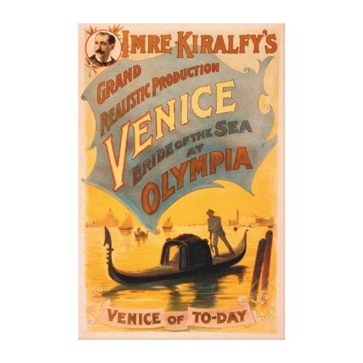 Venice, Bride of the Sea at Olympia Gondolas 3 Canvas Print