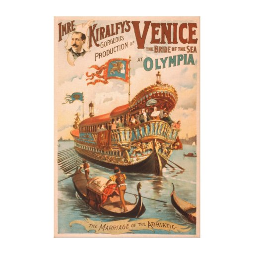Venice, Bride of the Sea at Olympia Gondolas Gallery Wrapped Canvas