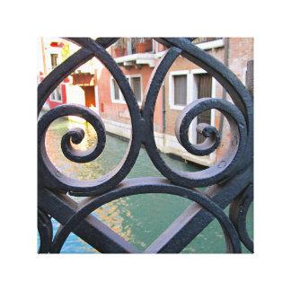 Venice Bridge Detail Gallery Wrapped Canvas