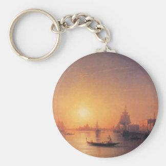 Venice by Ivan Aivazovsky Basic Round Button Key Ring