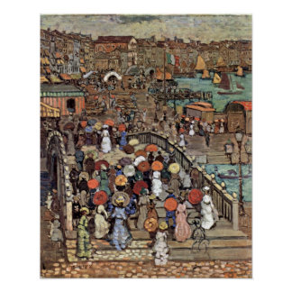 Venice by Prendergast, Vintage Post Impressionism Posters