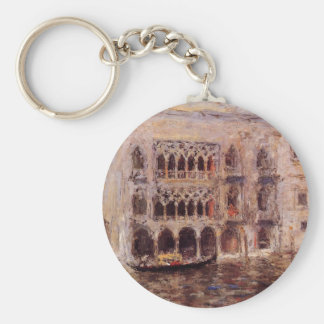 Venice by William Merritt Chase Basic Round Button Key Ring