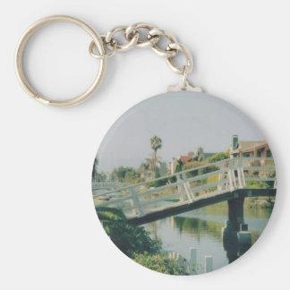 Venice California Basic Round Button Key Ring