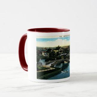 Venice, California, Boating on the Canal, Vintage Mug