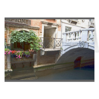 Venice canal and flower box card