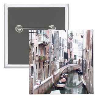 Venice canal 15 cm square badge
