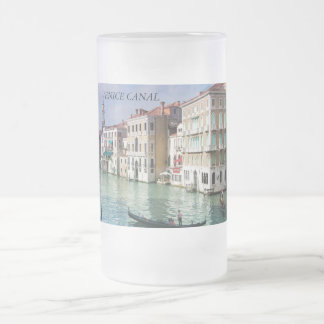 venice canal glass mug