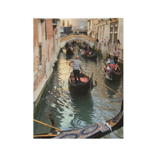Venice Canal & Gondola Wood Poster