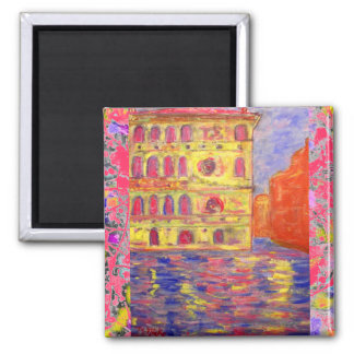 venice canal light drip square magnet