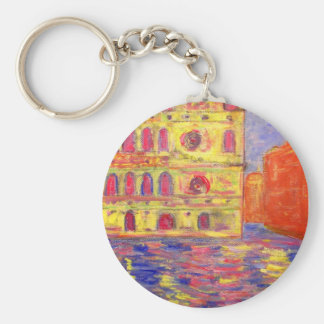 venice canal light basic round button key ring